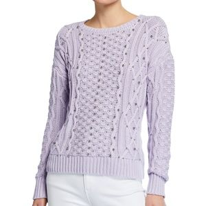 MICHAEL KORS Embellished Cable-Knit chunky Sweater